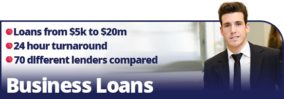 Business Loans, loans from $5k to $20m, 24 hour turnaround, 70 different lenders compared